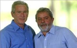 Pte. George Bush and Lula da Silva will meet today at Sao Pablo