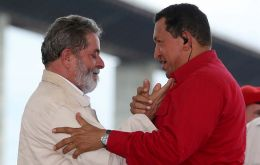 Pte. Lula da Silva and Pte. Hugo Chavez