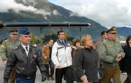 Pte. Michelle Bachelet visited the area