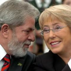Pte. Lula da Silva with Pte. Michelle Bachelet