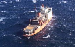 Icebreaker Irizar after the accident