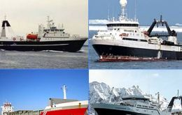 The four vessels granted licenses to trawl krill.