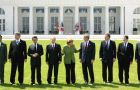 G8 leaders family photo in Heiligendamm