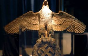 400 kilos bronze emblematic Nazi eagle