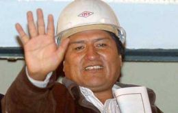 """Bolivia wants to use its oil and gas profits to cut poverty levels"" said Pte. Morales"
