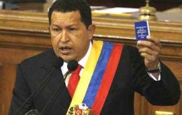 "Preaching with the little blue book: ""Chavez for ever"""