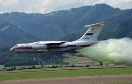 A Russian IL-76 plane has been contracted for U$ 1 million for five days