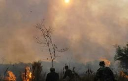 Paraguay is dry and in flames