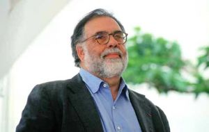 "Coppola plans to shoot a feature film: <i>""Argentine people are very nice."""