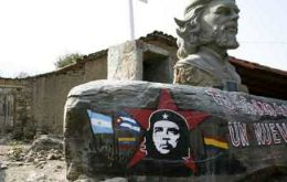"Memorial at  the place where  ""Che"" Guevara was executed"