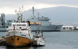 <i>Odyssey Explorer</i> has been berthed at Gibraltar's British naval base since May