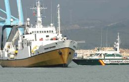 <i>Odyssey Explorer</i>  arrested by Spanish Patrol ship