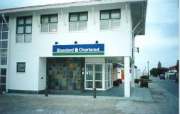 Falklands' Standard Chartered Bank branch is operating since 1983