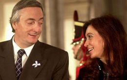 Pte. Kirchner and his wife elected President Cristina Fernandez