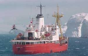 "Chilean icebreaker, ""Oscar Viel"" is monitoring the wreck area"