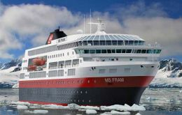 The MS Fram is specially adapted for Polar cruises