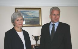 Ms. Leslie, FCO Director General and Mr. Jackson, BE Deputy Head of Mission in Argentina