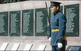 On duty next to the Malvinas war Memorial in Bs. Aires