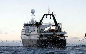 An eco-friendly trawler at sea. <br>(Photo: Aker Biomarine)