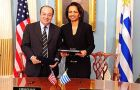 Foreign Minister of Uruguay G.  Fernandez and Secretary of State C.  Rice<br>Photo: USA Embassy