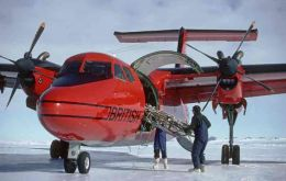 BAS De Havilland Dash 7 at work in Antarctica
