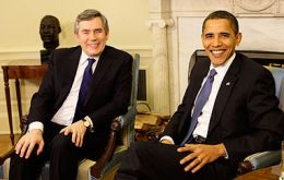 PM Brown and candidate Barack Obama