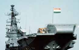 Transferred from the UK in 1986, the aircraft carrier INS Viraat has recently been refitted for a further 10 years of active service
