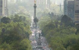 Mass anti-crime rallies in Mexico City