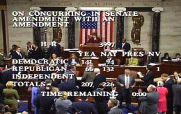 Historic vote at the US Congress