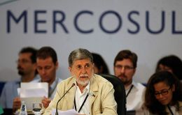 Celso Amorim during the opening session