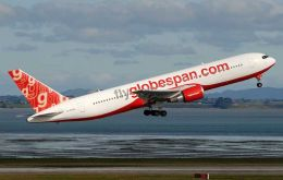 Flyglobespan the current operators of the Falklands direct airlink with  UK