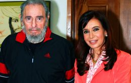 Fidel Castro received Pte. CFK