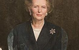 Richard Stone's portrait of Lady Thatcher, unfinished, will be unveiled today (Photo: AFP )