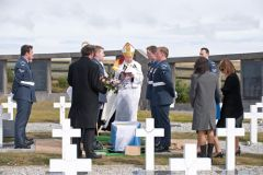 The burial ceremony was conducted by Monsignor Michael McPartland.