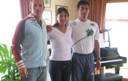 The Argentine team: Marcelo De Bernardis, Andrea Karina Mastrovincenzo and Marcelo Vallejo