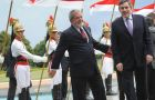 Pte. Lula da Silva welcome PM Gordon Brown at Presidential Palace