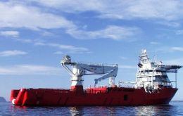 M/V Skandi Patagonia has been contracted for the task