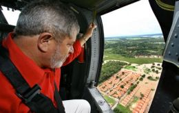 President Luiz Inacio Lula da Silva visited the worst affected areas