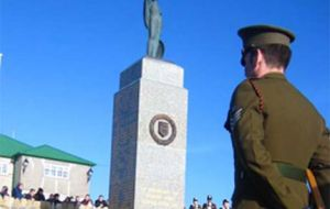 Falkland Islanders gathered together on Sunday to mark Liberation Day.  Four pages of coverage starts on page 9.