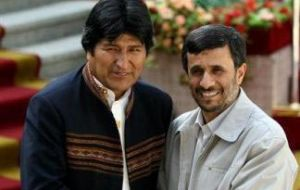 Iranian president Mahmoud Ahmadinejad has several friends in Latam