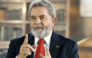 In his daily column the Brazilian president said the country is rapidly recovering from the global crisis.