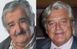 Mujica and Lacalle, the two leading candidates for the coming presidential election.