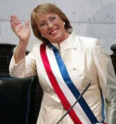 The highest level of support of any Chilean president since 1990