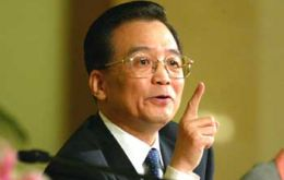 Premier Wen Jiabao said the Chinese economy recovery is not yet steady, solid and balanced