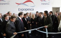 Buenos Aires governor Daniel Scioli officially opened the expo  (Photo Excopesca)