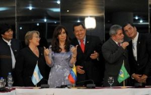 South American leaders during the summit