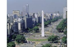 The capital Buenos Aires, once considered the Paris of South America