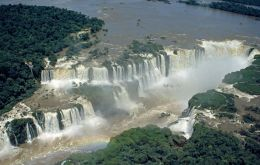 The Iguazu Falls are part of the Atlantic forest
