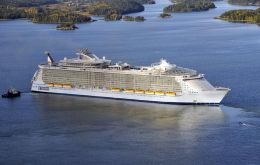 """Oasis of the Seas"" will sail on her four-night maiden voyage on December first"