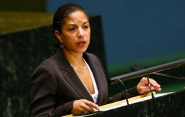 "US ambassador Susan Rice said the resolution does not reflect ""current realities"" in Cuba"